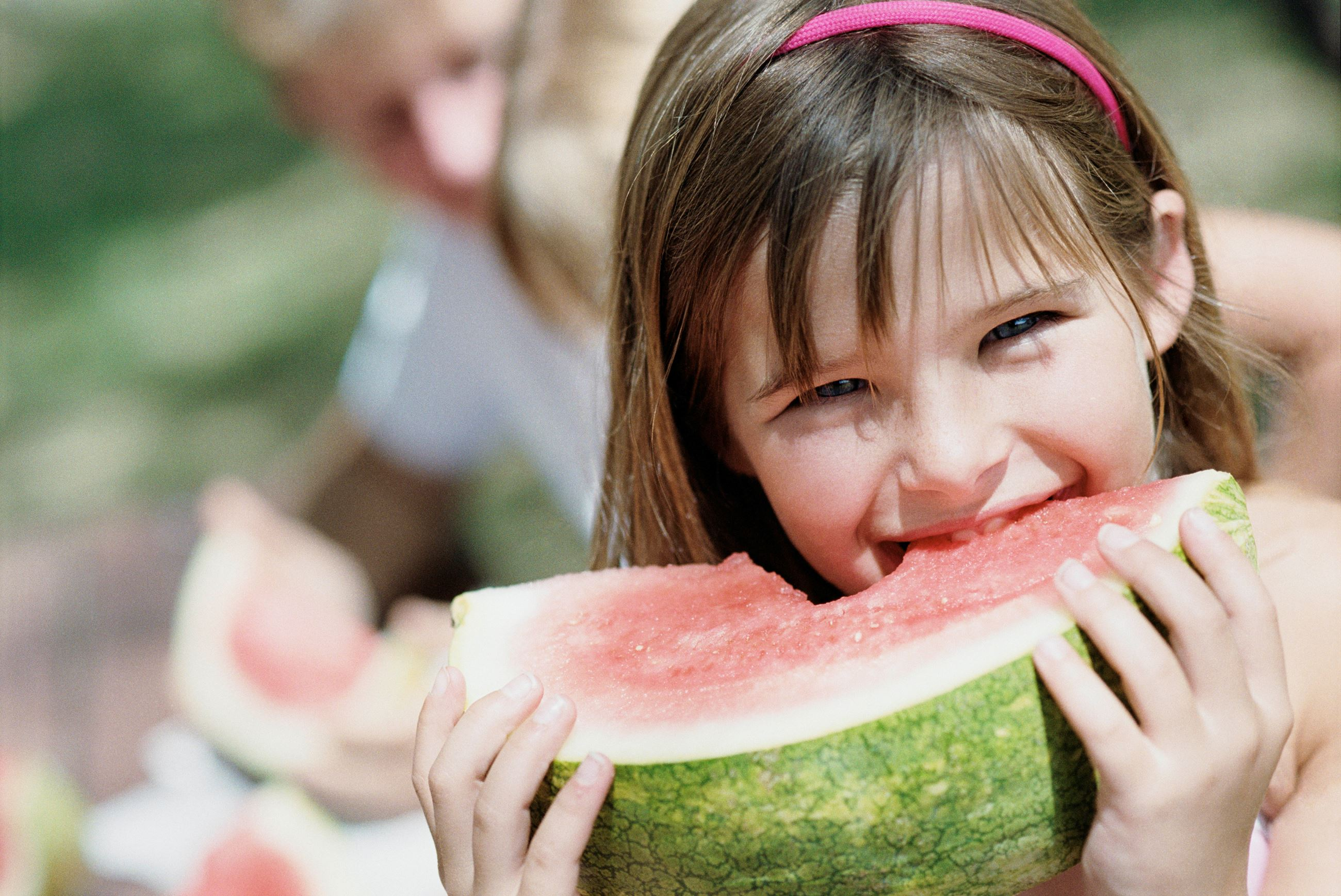 Girl eating Watermellon