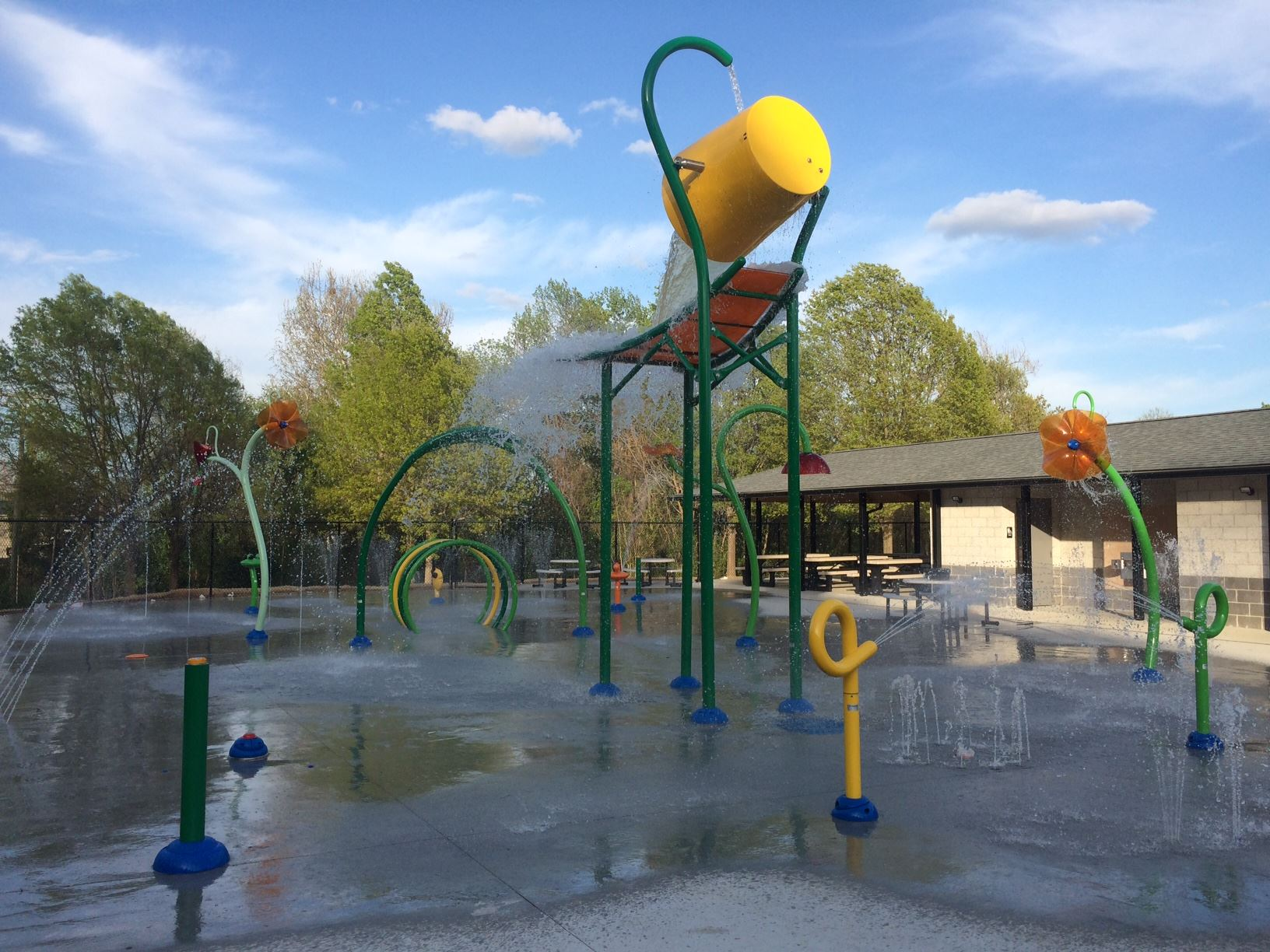 splash park with water