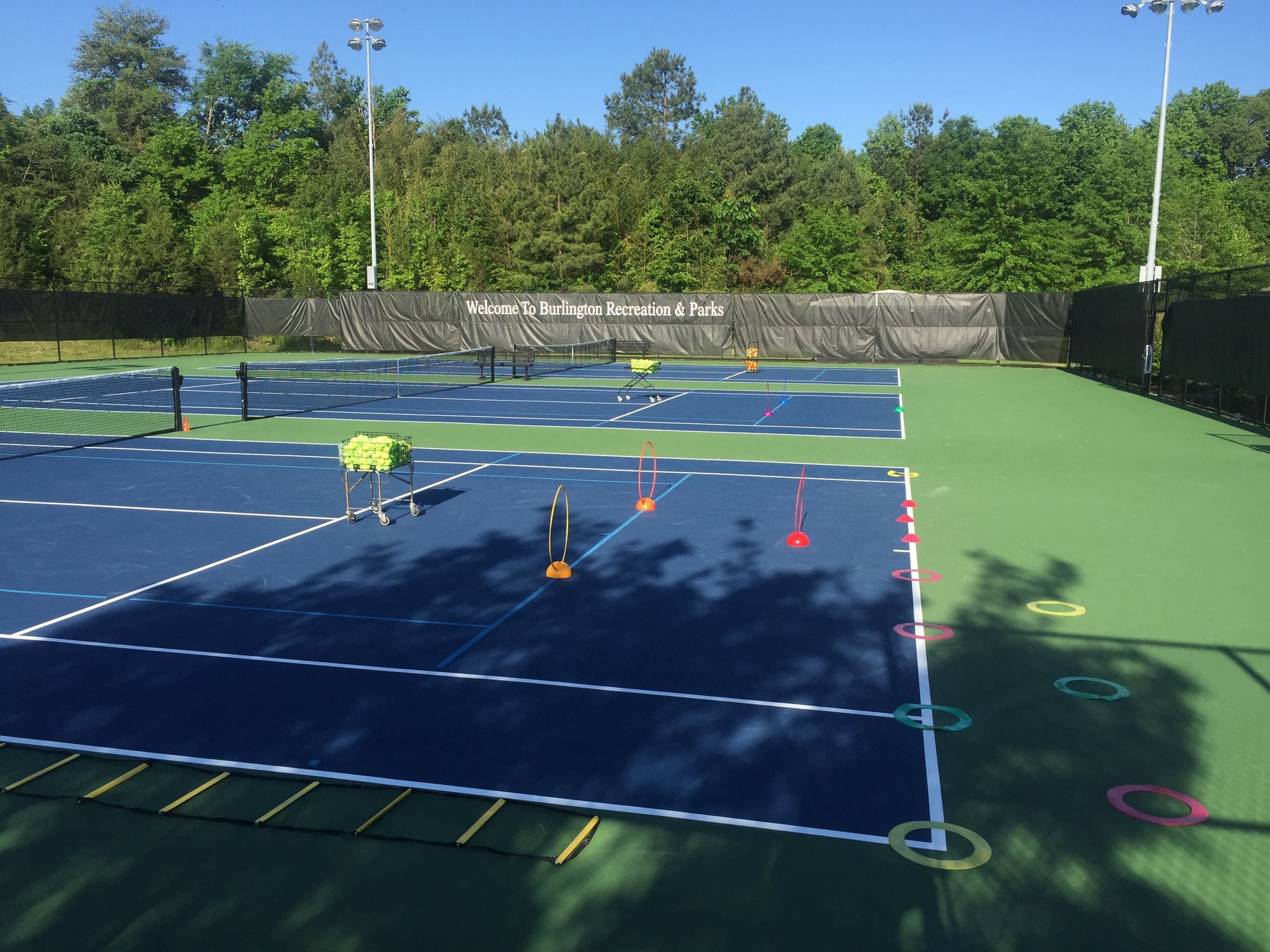 BTC Courts set up for practice