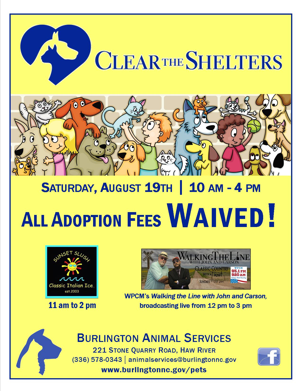 Clear the Shelter 2017
