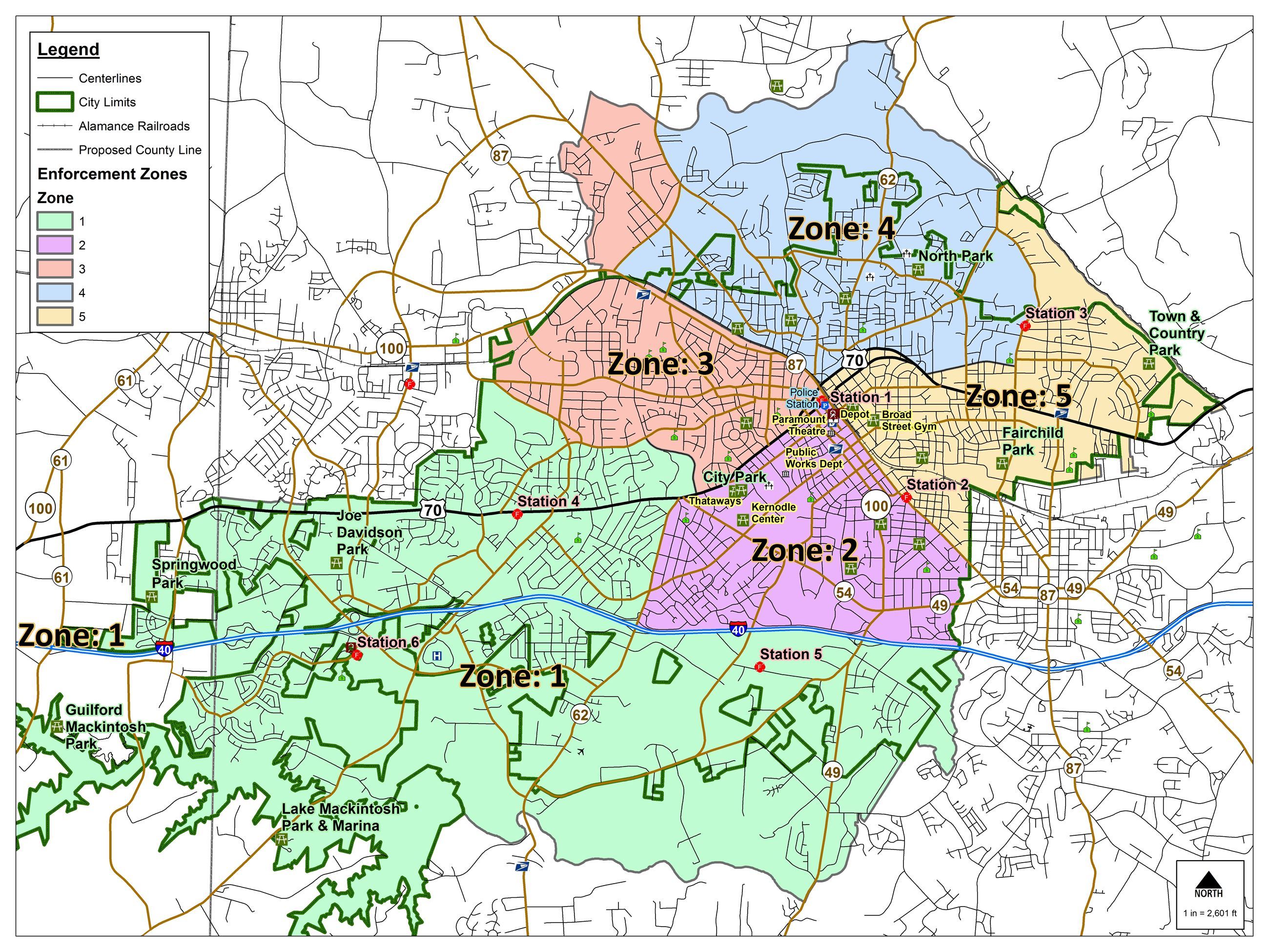Enforcement Zones Map
