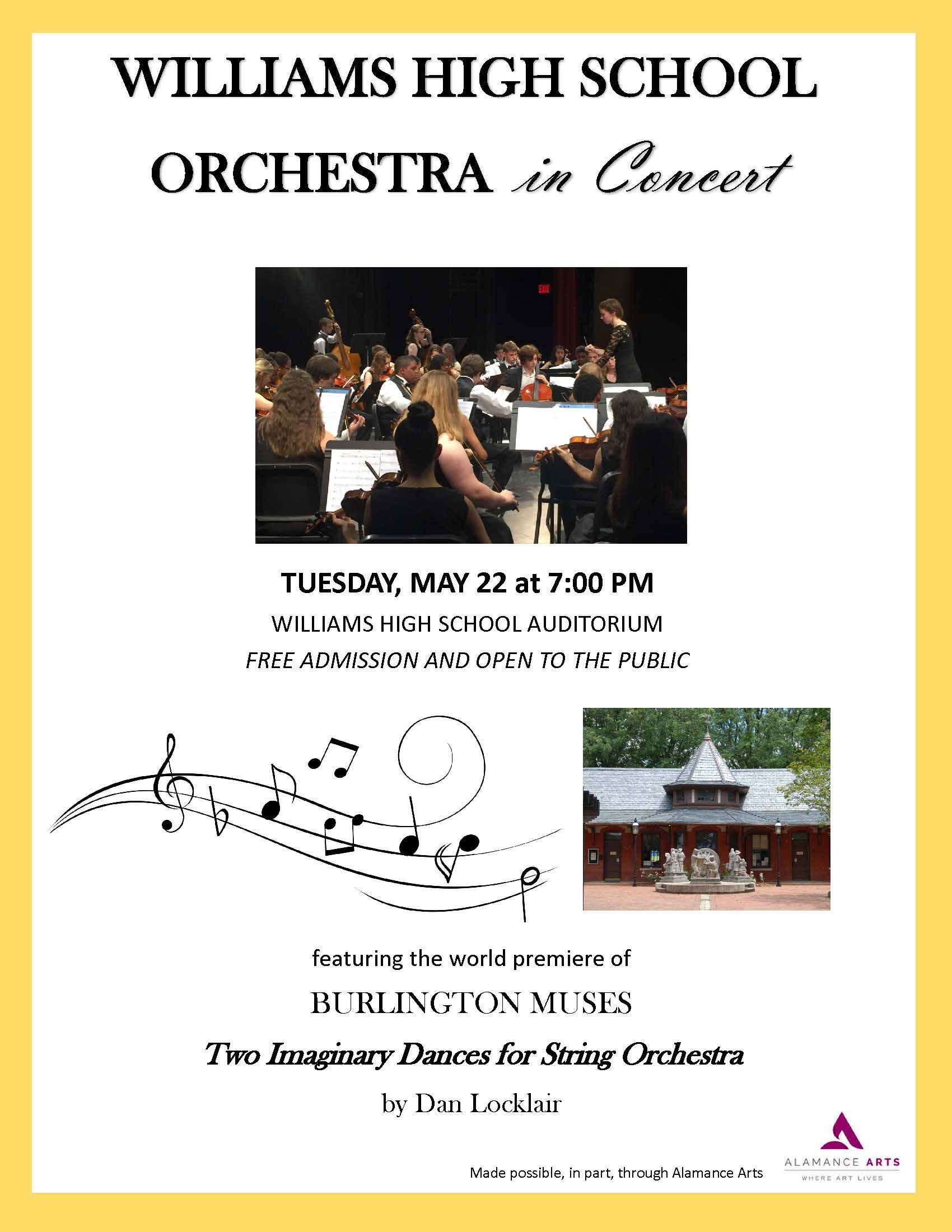 Burlington Muses May Concert Poster