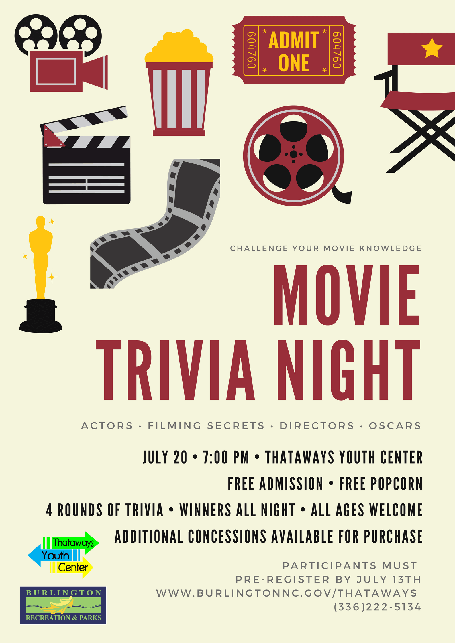 Movie Trivia Night 5.22.18