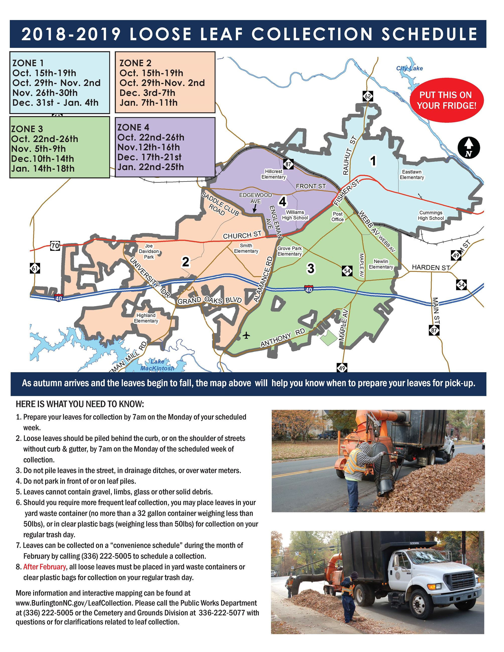 City of Burlington Leaf Collection Schedule 2018