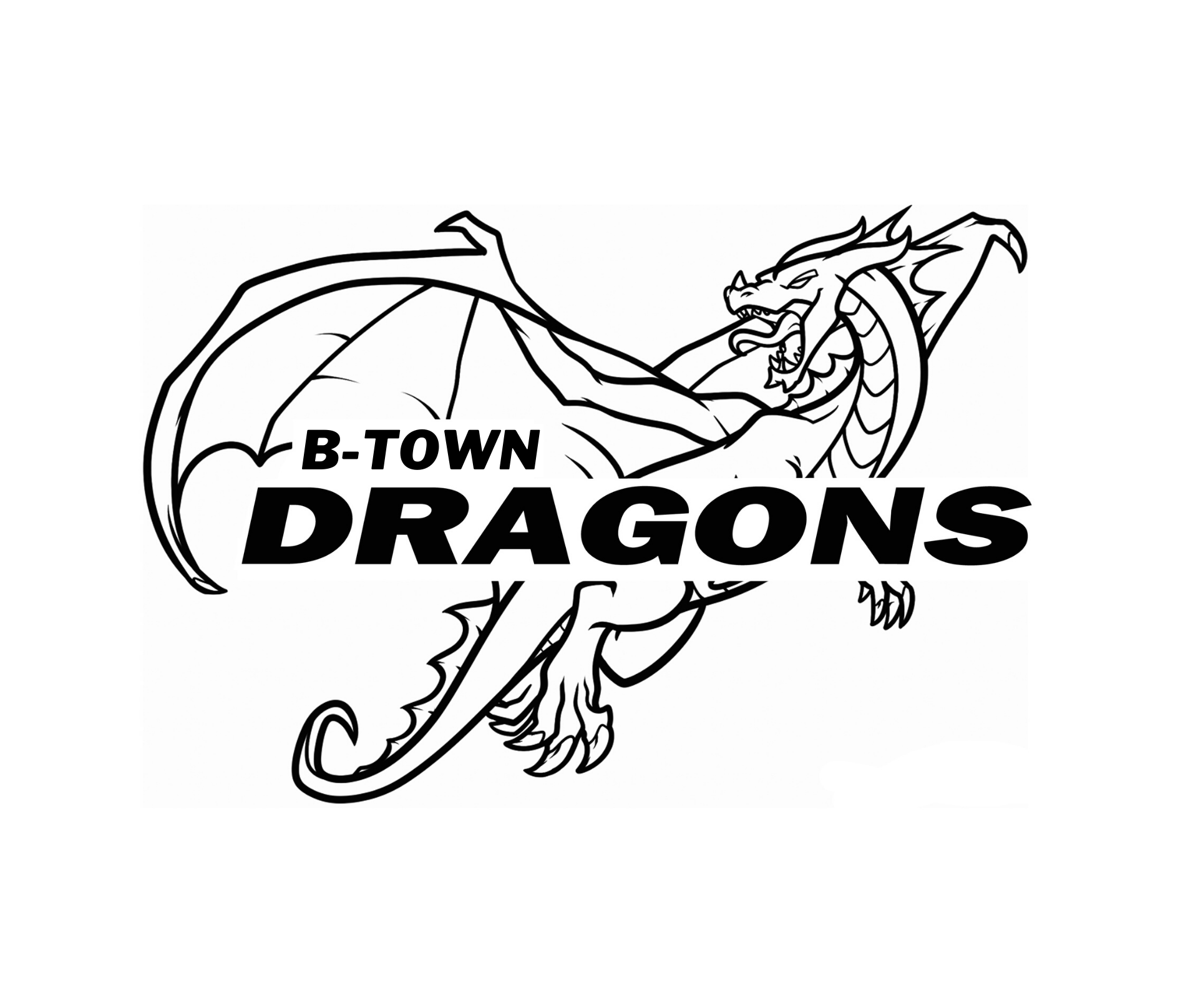 B-TOWN FULL DRAGON LOGO
