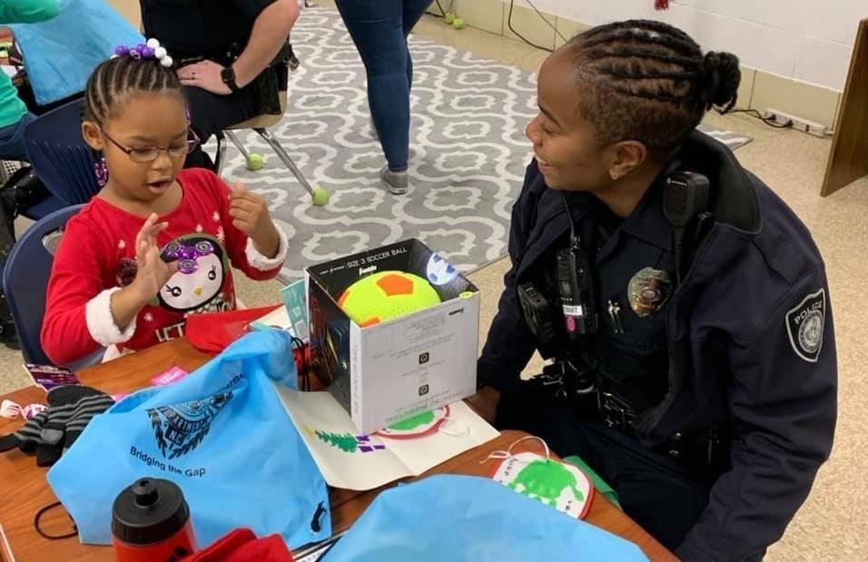 Officer Harris-Stewart with pen pal student