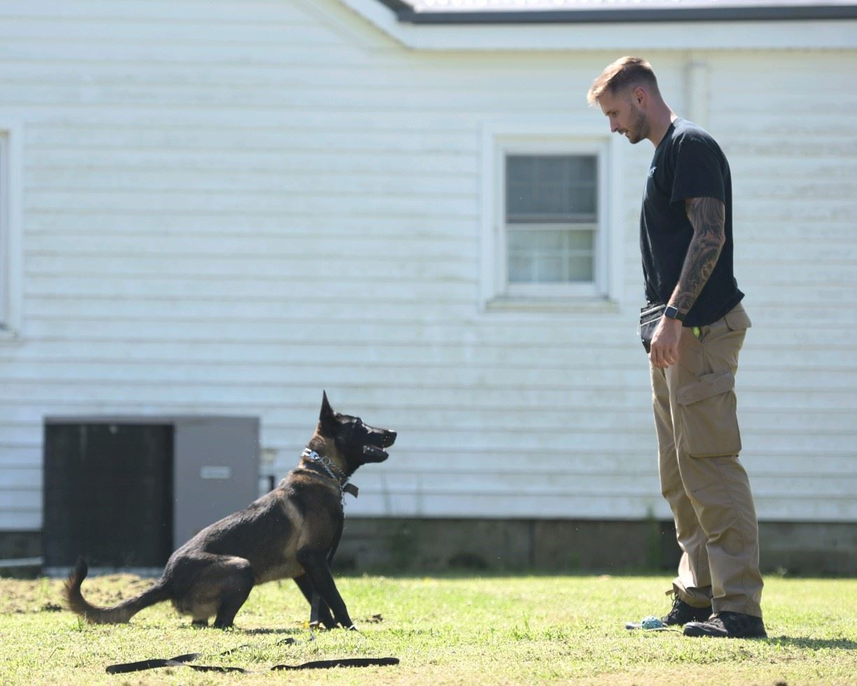 officer ayer and canine
