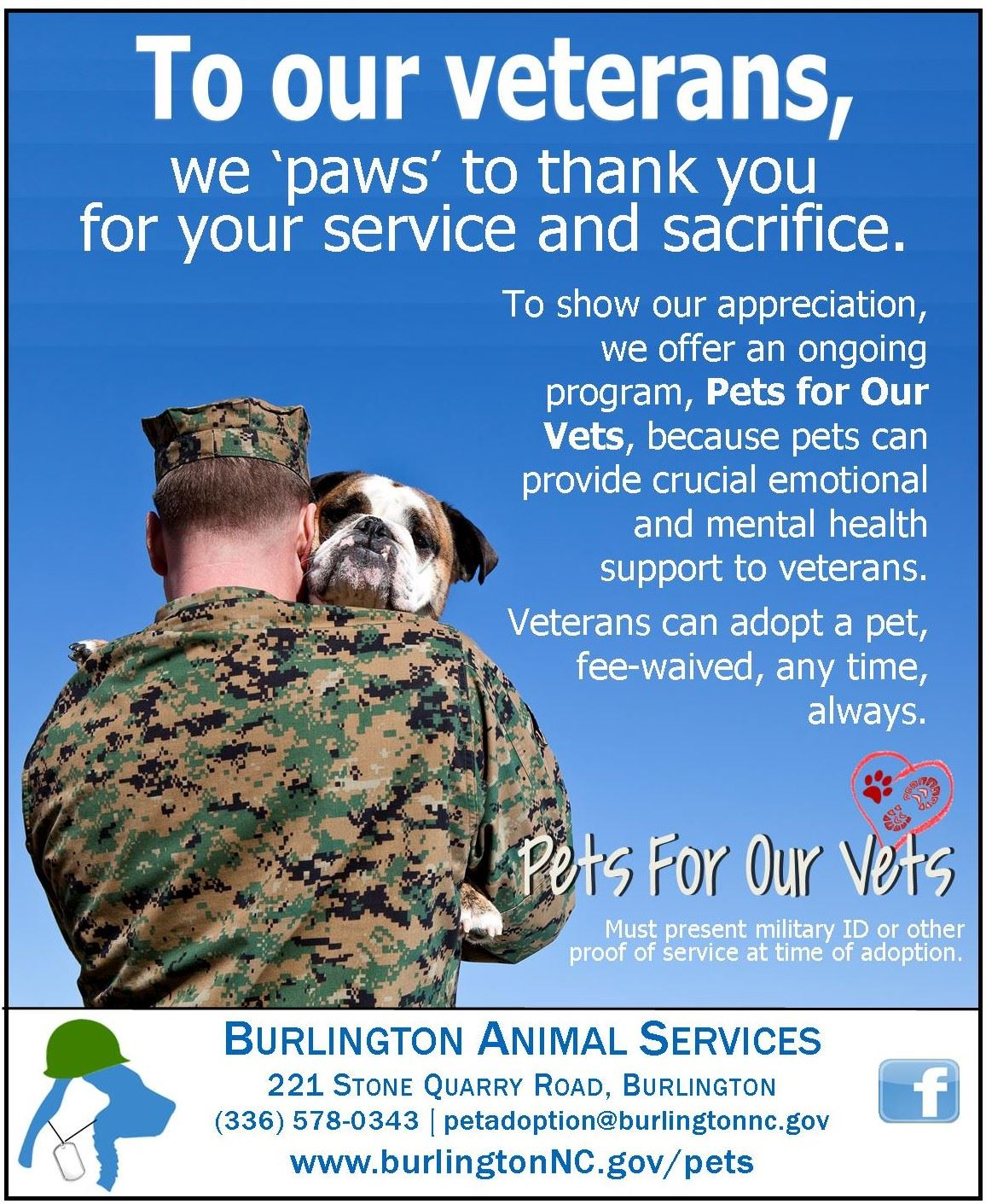 pets for our vets flier
