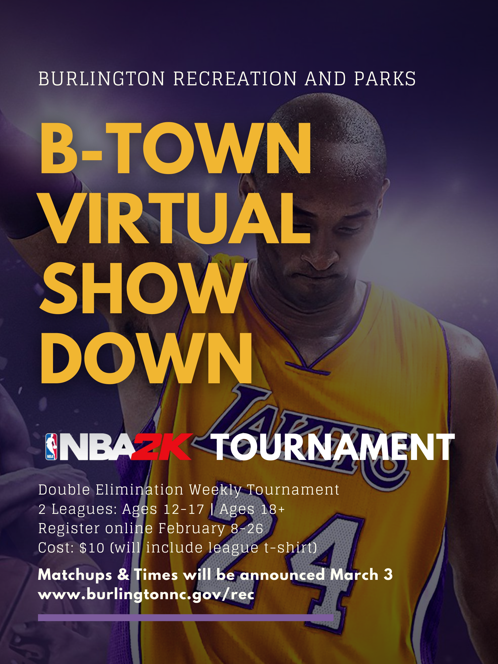BTown Virtual Showdown NBA2k21 Tournament Flyer