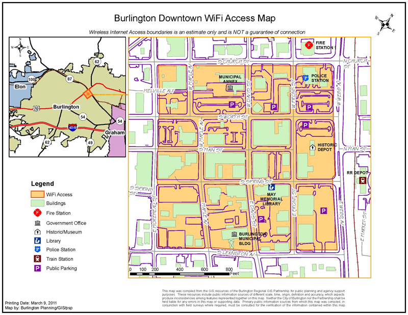 Downtown Wireless Map