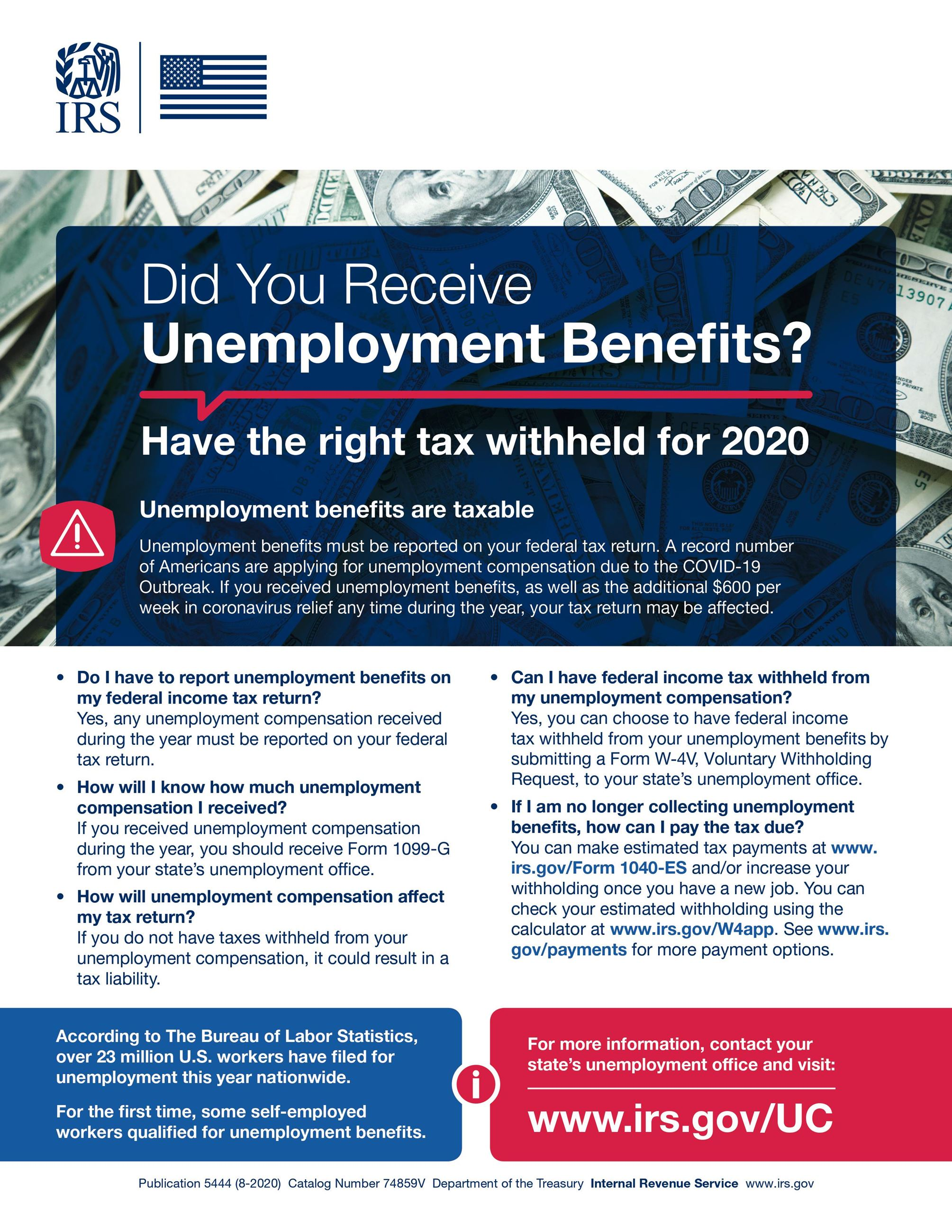 Tax Withholding for Unemployment Benefits Poster