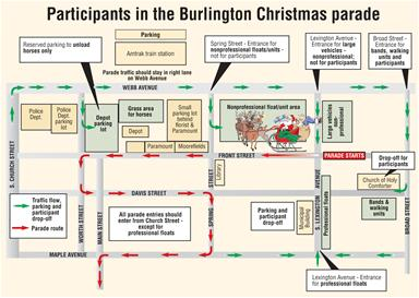 Christmas Parade Participant Map