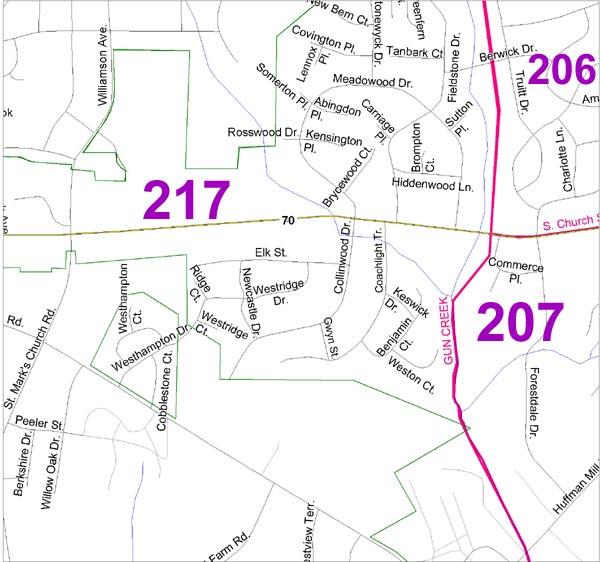Street Map of Burlington NC